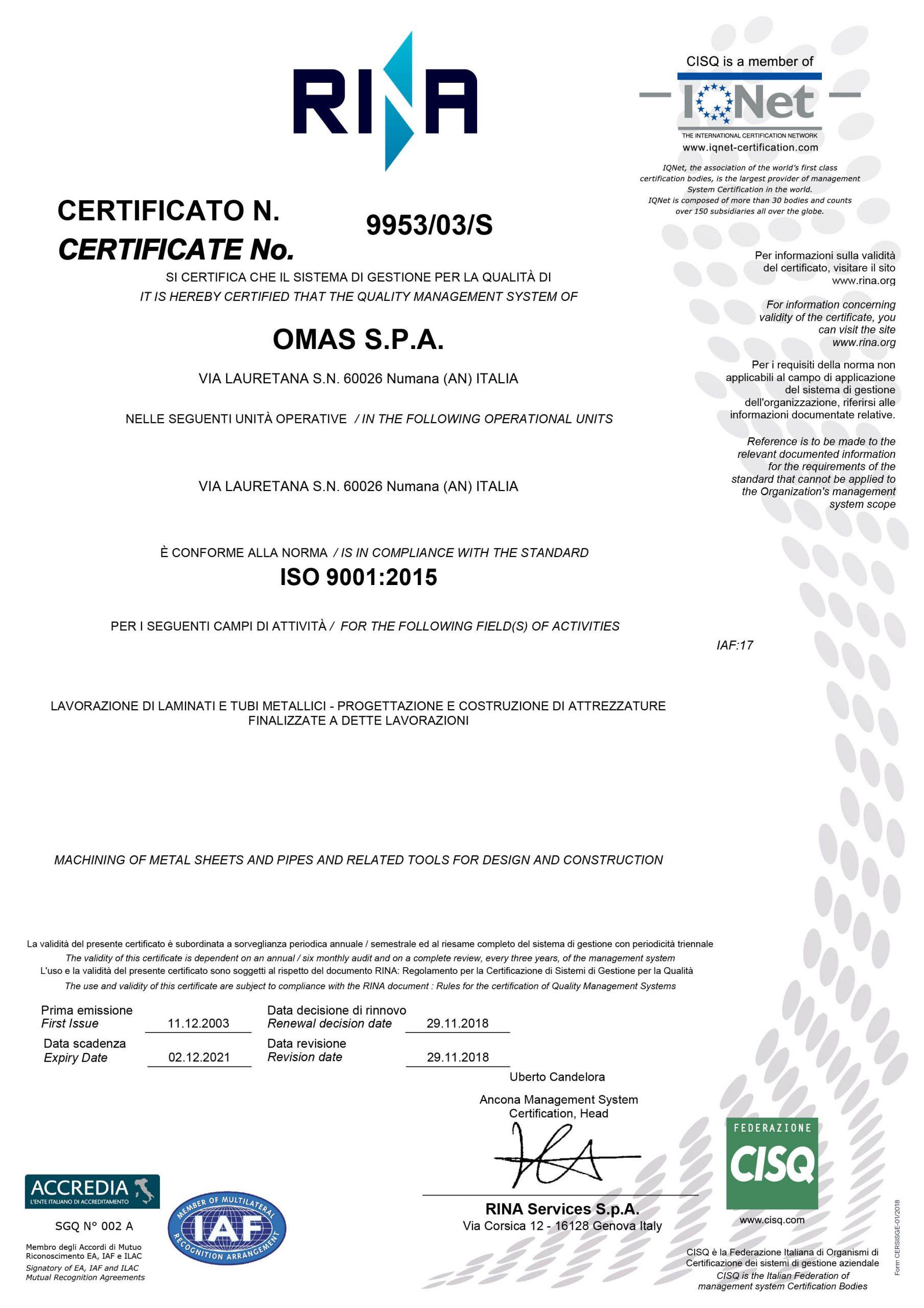 omas-9001-2015
