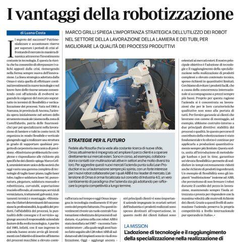 I Vantaggi della Robotizzazione Rivista Meccanica