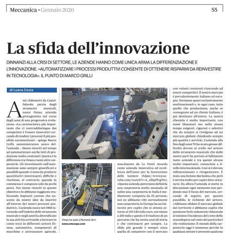La sfida dell'innovazione – meccanica